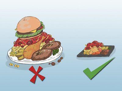 giảm kích cỡ suất ăn