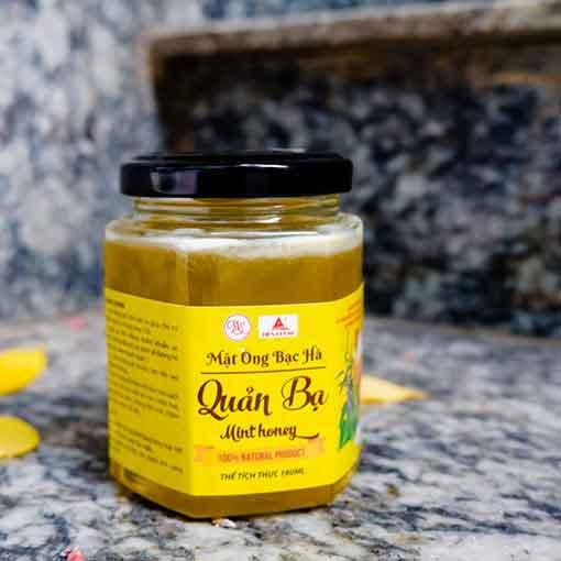 mật ong bạc hà nguyên chất