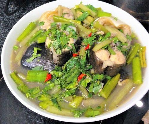 canh cá bông lau rau kèo nèo
