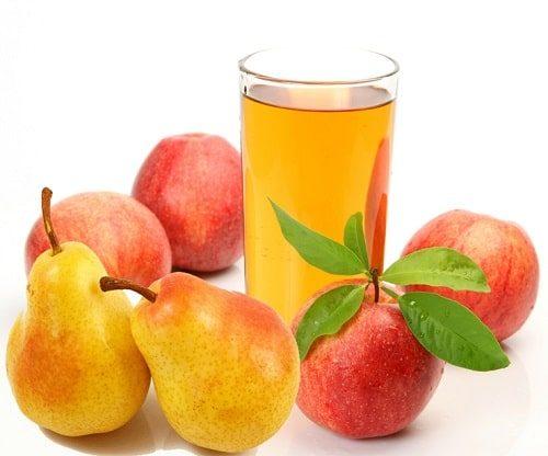 Nước ép táo lê cung cấp nhiều vitamin và khoáng chất tốt