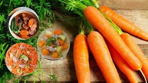 chế biến cà rốt