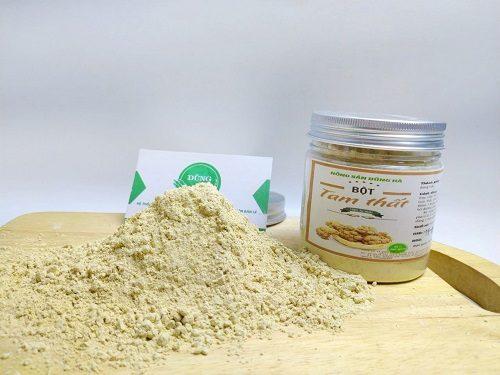 Nhận biết bột Tam thất thật giả dựa vào hương vị