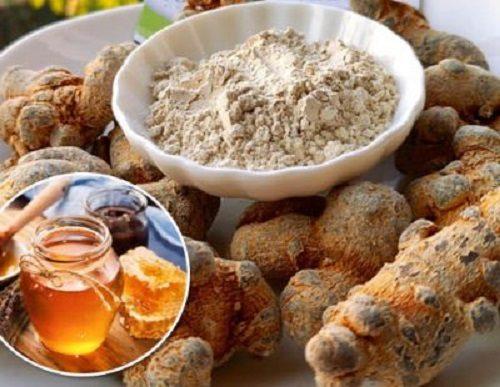 bột tam thất ngâm mật ong