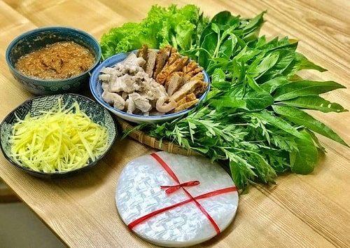 món ăn với rau rừng tây ninh