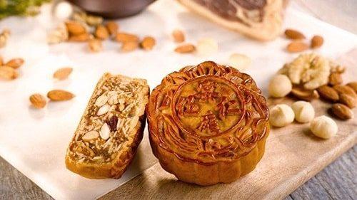 Bánh trung thu hạt dẻ và hạt dưa