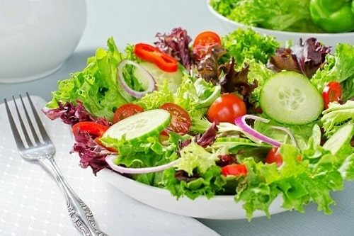 salad xà lách xoăn xanh
