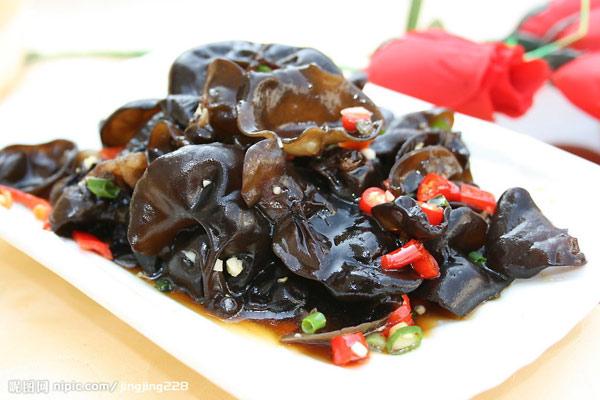 Mộc nhĩ đen một loại nấm ăn được có giá trị bổ dưỡng rất cao